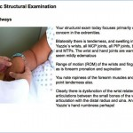 Screen shot highlighting patient scenario from Virtual Community Health Center